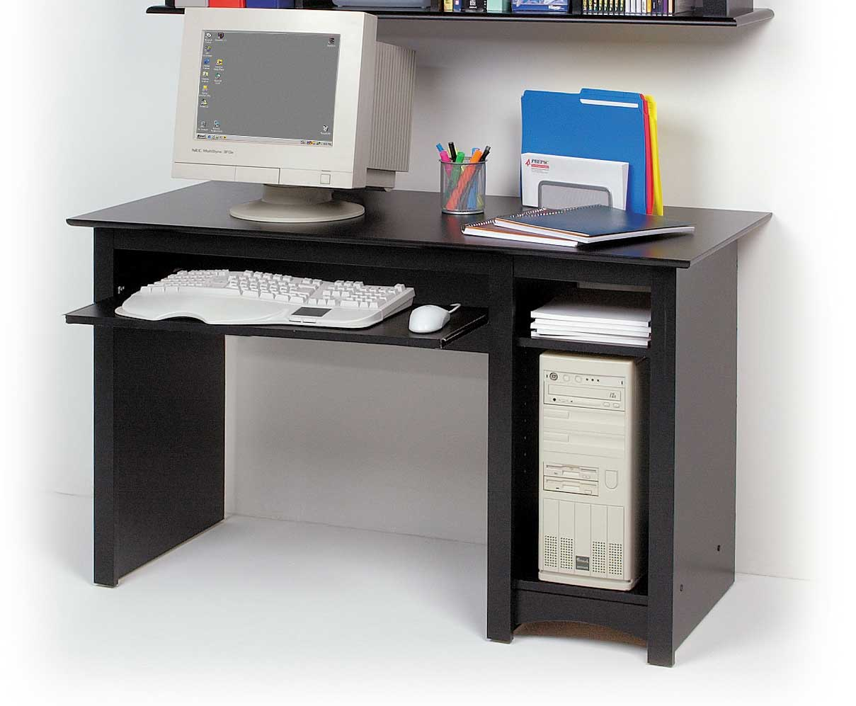Awesome small black computer desk frmditt