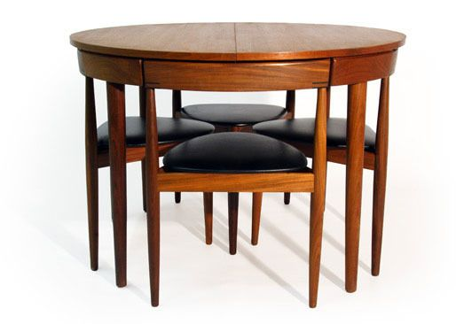 Awesome small dining table and chairs all tucked in: hans olsenu0027s super space-saving dining set fzjiyde