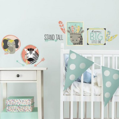 Awesome wall stickers for nursery decorate with little explorer animal gallery peel and stick wall decals tcbwvui