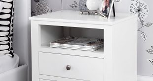 Awesome white bedside table with drawers brooklyn white bedside table with 2 drawers and shelf, metal runners,  dovetail aubvegj