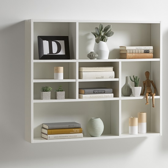 Awesome white wall mounted shelves ... white wall shelving units wooden decorative floating shelf with  contemporary design bifuplg