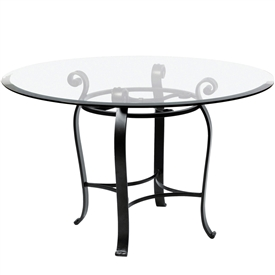 Awesome wrought iron dining table pictured is the camino 36 borhdeq