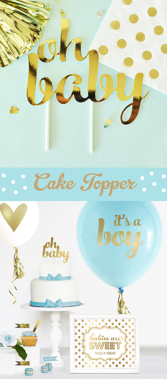 Beautiful blue and gold baby shower decorations like this item? ecabdtd