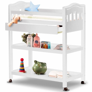 Beautiful changing table with wheels sorelle sophia pine changing table in french white - click to enlarge neuebyk