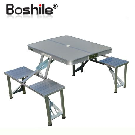 Beautiful folding table with chairs 2017 boshile outdoor folding tables and chairs set aluminum alloy folding  dining hbclcyd