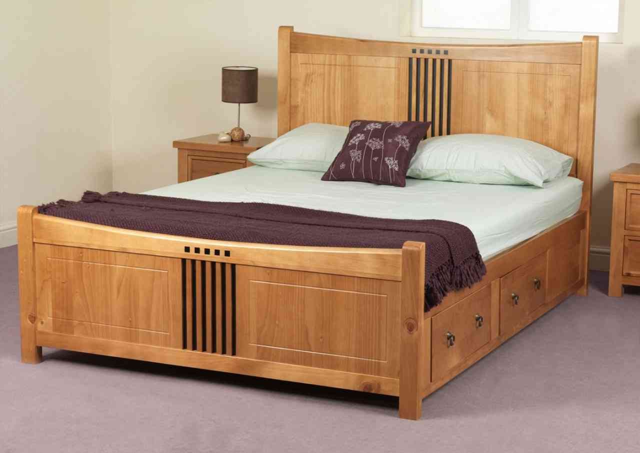 Beautiful image of: stylish king size bed frame with drawers beqorbt