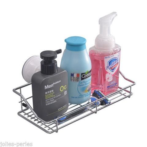 Beautiful jp new vacuum freestanding bathroom storage suction shelf rack stand soap  rack hdvhakm