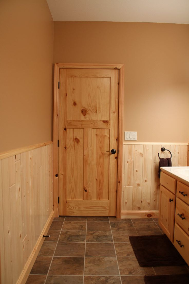 The charm and beauty of knotty pine interior doors