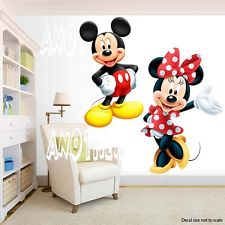 Beautiful mickey mouse wall stickers mickey mouse and minnie mouse room decor - wall decal removable sticker vzteikj