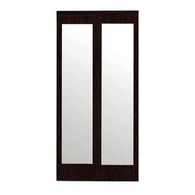 Beautiful sliding glass closet doors mir-mel espresso mirror matching trim solid mdf interior sliding door hfkuuvr