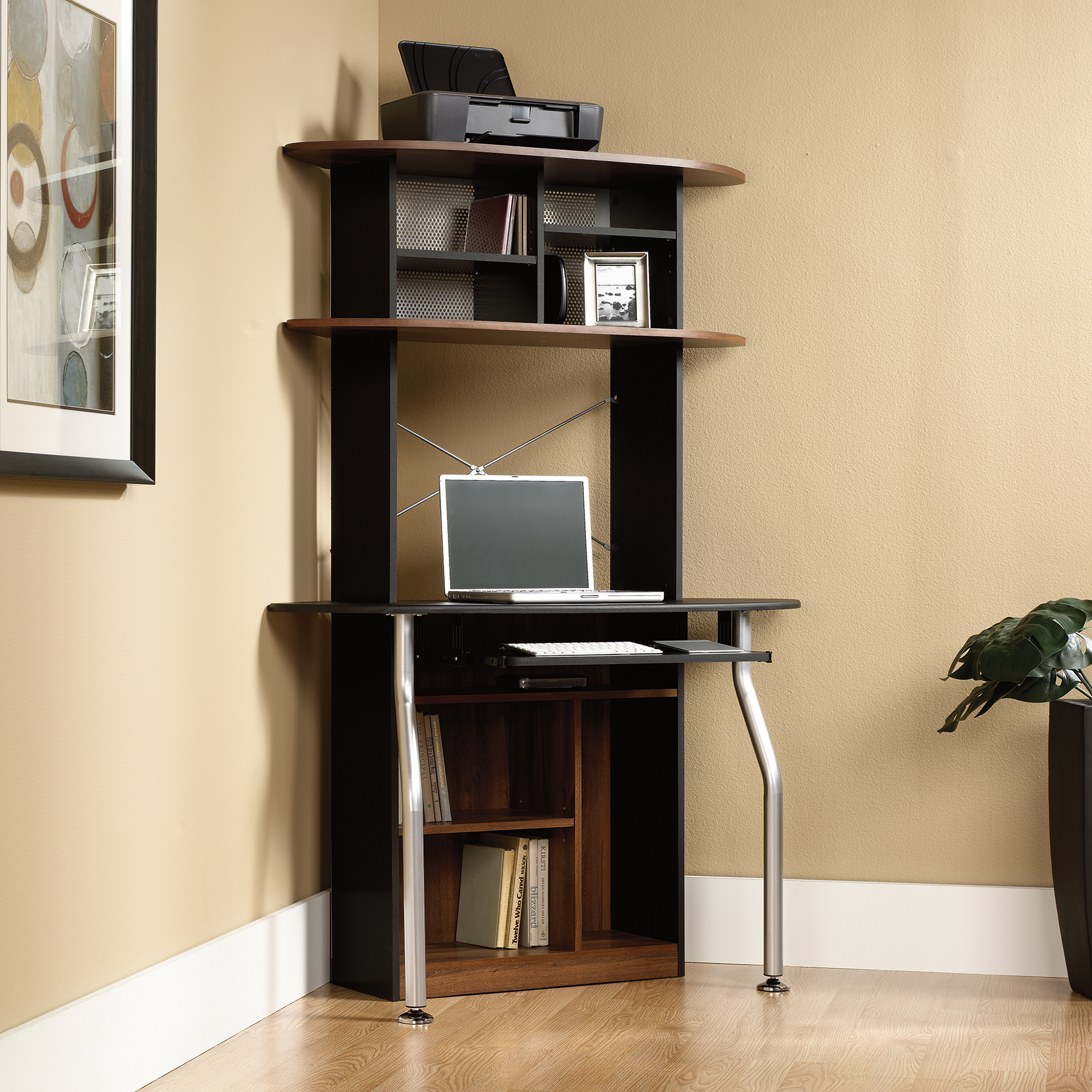 Beautiful small corner computer desk ... corner computer desk tower for more features ... lxyucqf