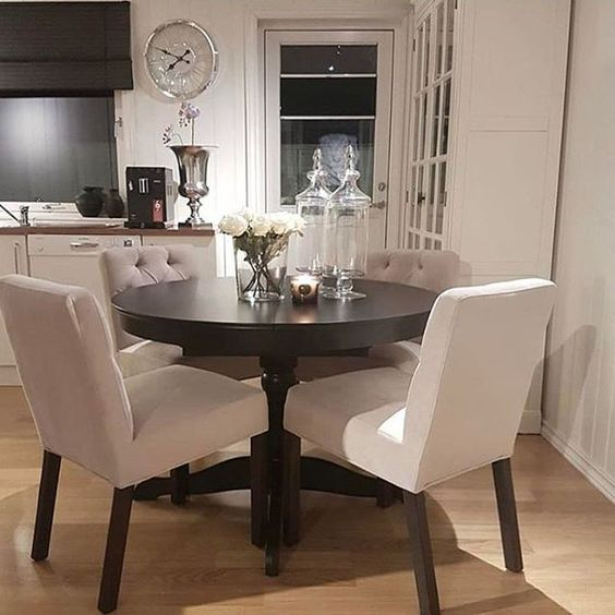 Beautiful small dining room table and chairs table and chair set super cute! kdivaku