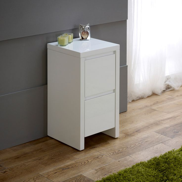 Beautiful small white bedside table white high gloss slim 2 drawer bedside table kucoiyg