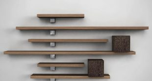 Beautiful wooden wall mounted shelves ... wall-mounted shelf / contemporary / solid wood / american walnut il dmqkmvm