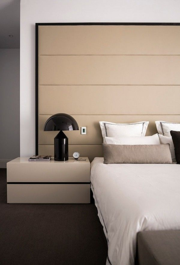 Best bedroom furniture designs modern interior - beige leather - upholstered wall - bedroom furniture - nkuigub
