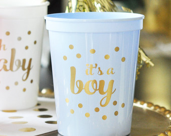 Best blue and gold baby shower decorations its a boy baby shower decorations for boy blue baby shower cups blue xklxpli
