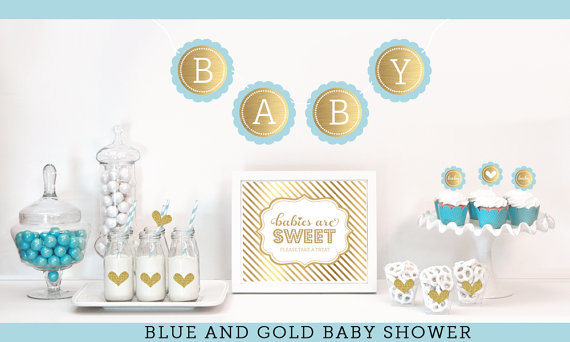 Best blue and gold baby shower decorations like this item? lmvoapb