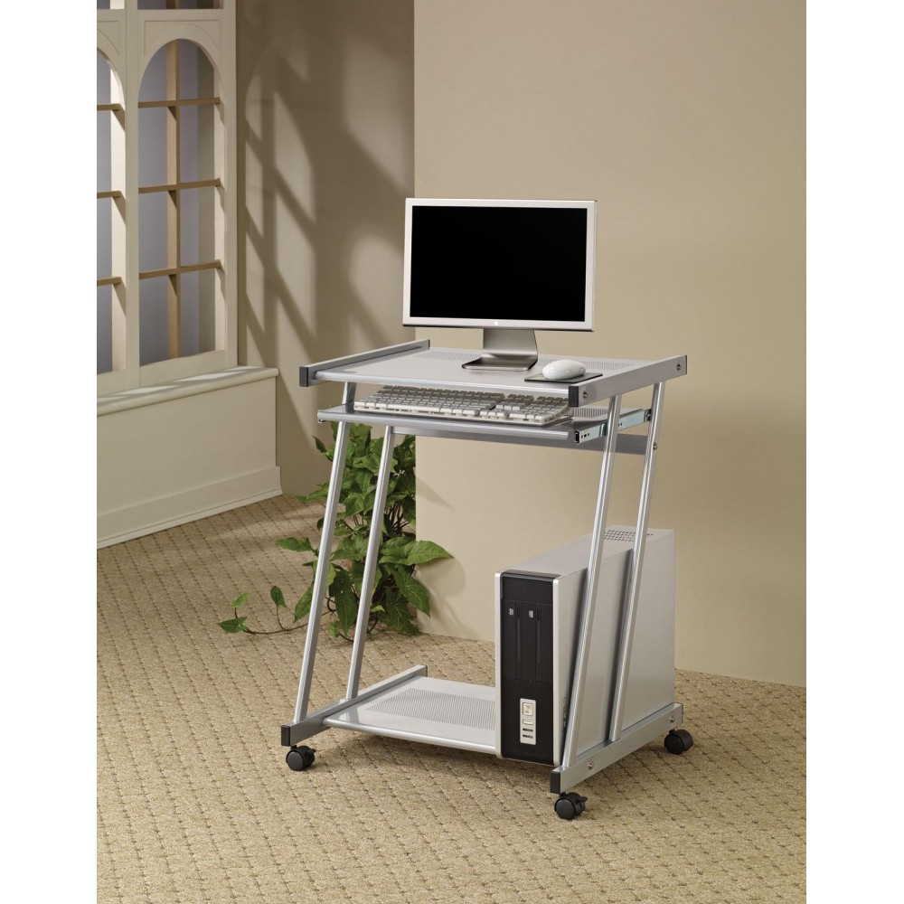 Best desks contemporary computer desk with keyboard tray and casters uwzgdwq