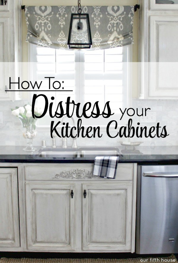 Best distressed kitchen cabinets ... off of the inspiration kitchen. all i needed to do was distress qbqmbgi