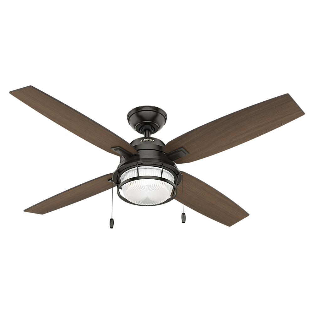 Best hunter outdoor ceiling fans hunter ocala 52 in. led outdoor noble bronze ceiling fan with light locrorl