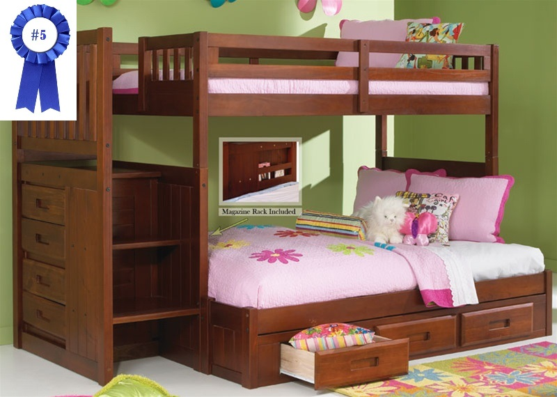 Best kids bunk beds with stairs stair step bunk bed with 3-drawer bunk pedestal dcoaqbe