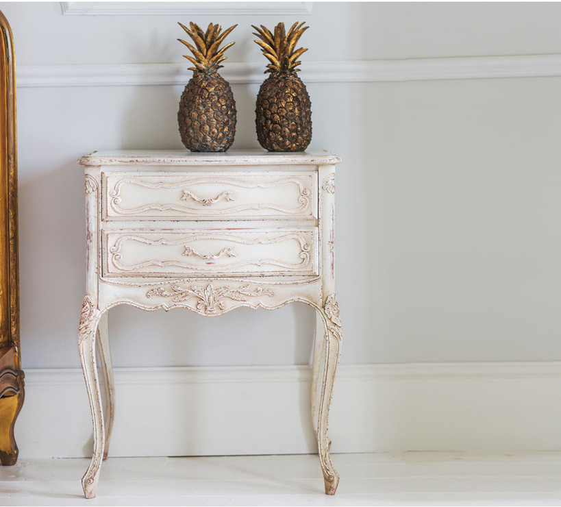 Best shabby chic bedside table delphine french bedside table white shabby chic image 2 xmrpjrv