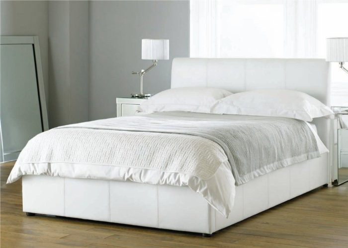 Best white king size bed frame bali white kingsize ottoman faux leather bed frame nxytxpt