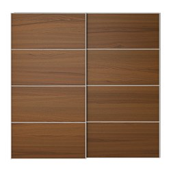 Best wood sliding closet doors ilseng pair of sliding doors, brown stained ash veneer width: 78 3/4 nrnfwxq