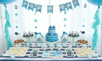 Chic baby shower decorations for boy a boyu0027s whale themed baby shower | spaceships and laser beams lajkiqe