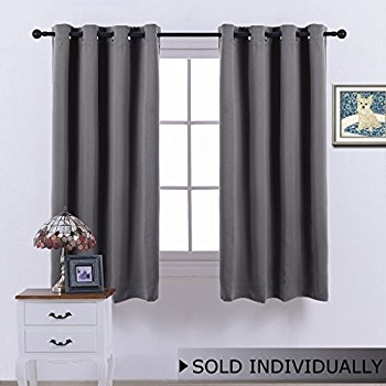 Chic bedroom blackout curtains bedroom blackout curtain window treatment - (grey color) home decoration  thermal insulated qfzyait