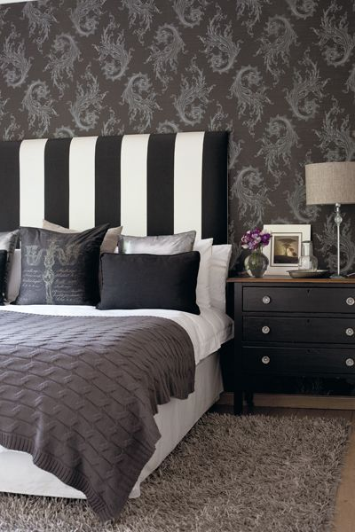 Chic black and white headboard best black and white striped headboard 56 for your modern headboards with uejlkky