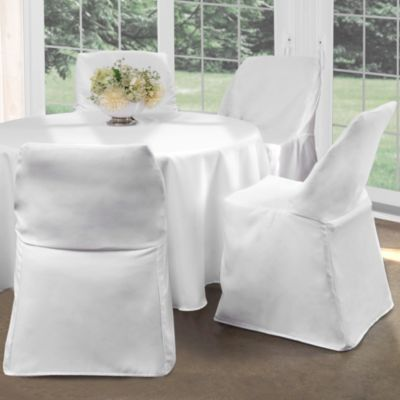 Chic chair covers for folding chairs folding chair cover in white hxlidma