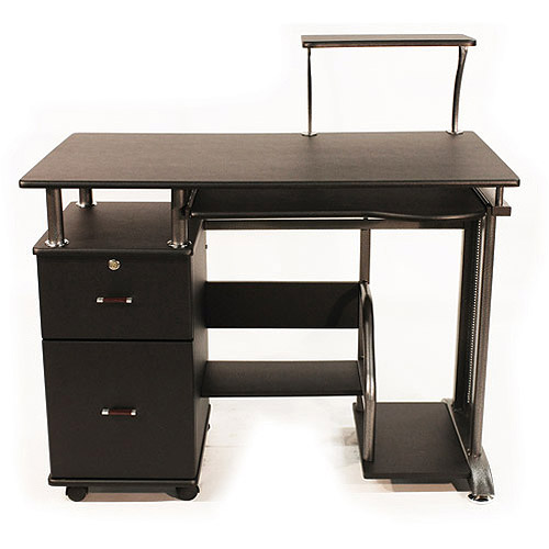 Chic comfort products rothmin computer desk with storage cabinet - walmart.com yndcpzx