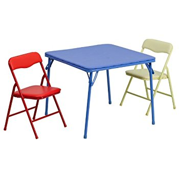 Chic folding table with chairs flash furniture kids colorful 3 piece folding table and chair set icelczz