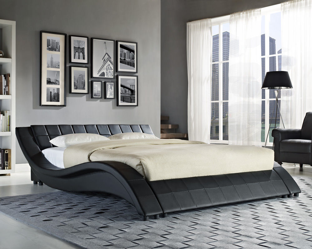 Chic king size bed frame and mattress image of: contemporary king size bed mattress chwvuzf