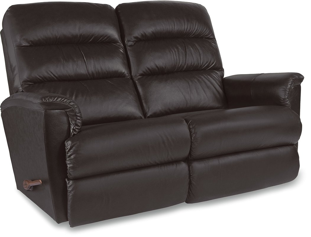 Chic leather reclining loveseat default_name nnpomou
