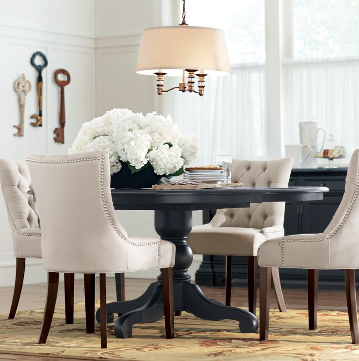 Chic small dining room table and chairs best 20+ black dining tables ideas on pinterest | black dining room chairs, heuscvs