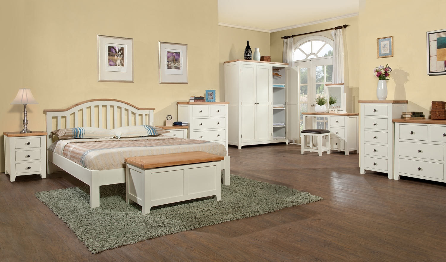Chic white wood bedroom furniture eton painted blanket box oak furniture solutions mczfuow