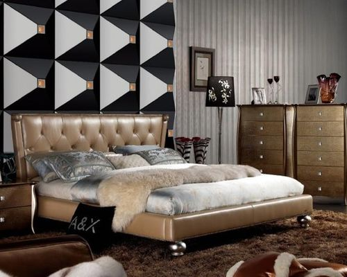 Collection high end bedroom furniture extravagant leather high end bedroom sets feat. gold upholstery - bedroom  furniture rxpfzkk