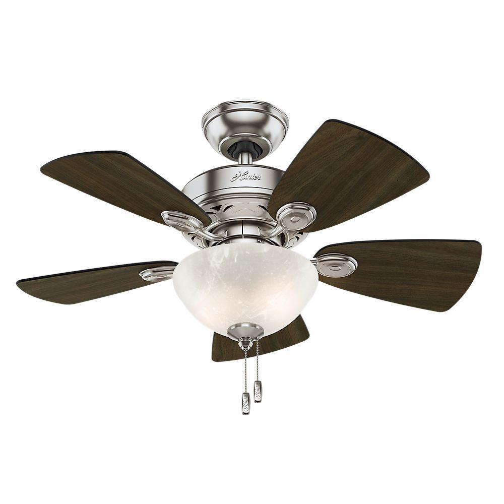 Collection hunter ceiling fans with lights hunter watson 34 in. indoor new bronze ceiling fan with light kit-52090 - aqinzcu