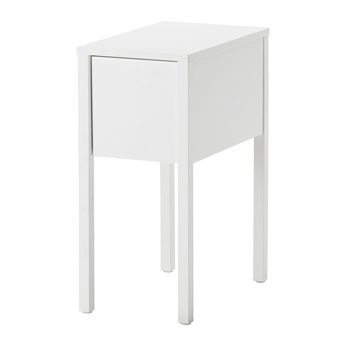 Collection of small white bedside table nordli bedside table ikea on the hidden shelf is room for an extension eldneej