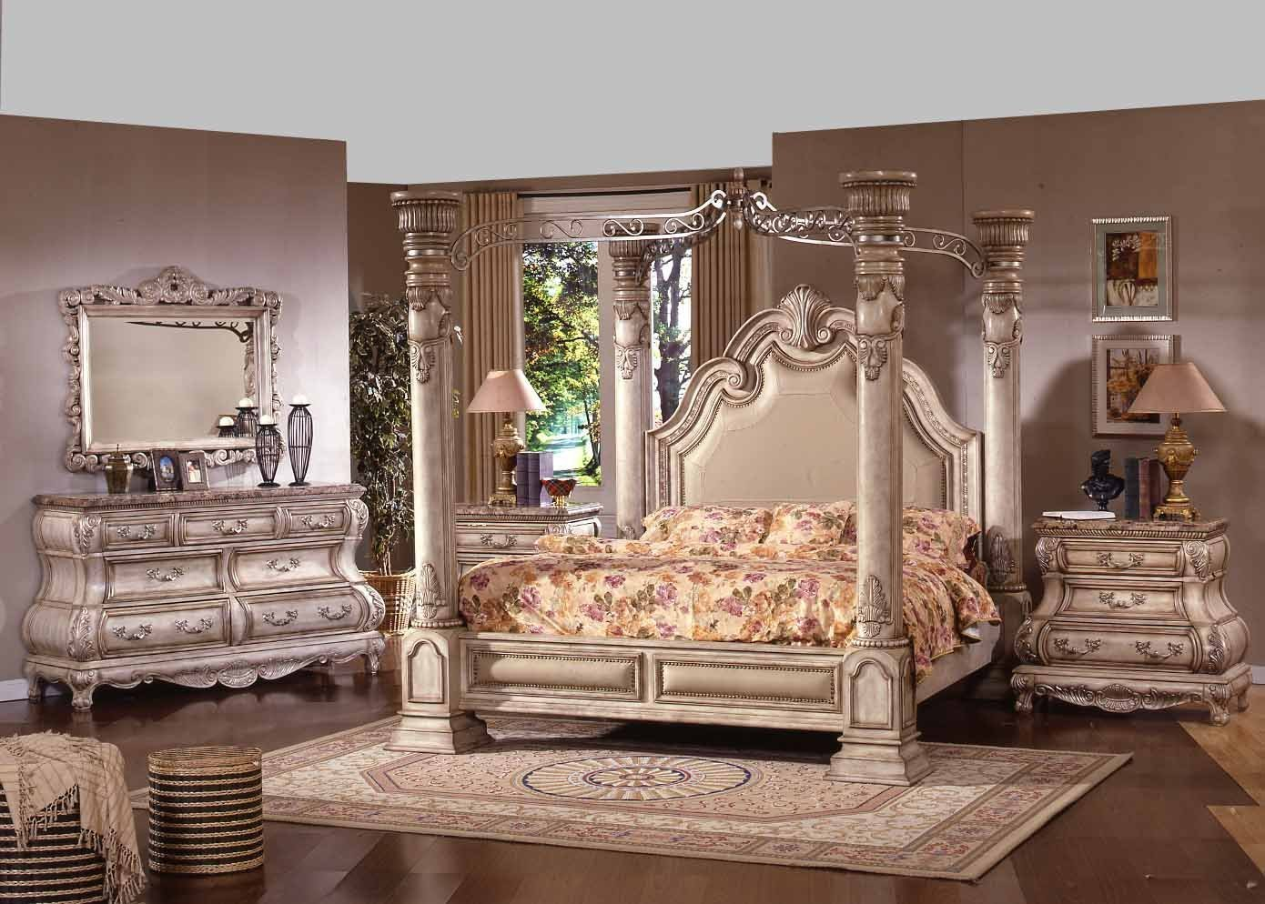 Collection queen bedroom furniture sets the new opera traditional four post white wash wood king and queen bedroom kzqhved