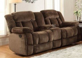 Collection reclining loveseat with center console homelegance laurelton doble glider reclining loveseat w/ center console in  chocolate microfiber uauplao