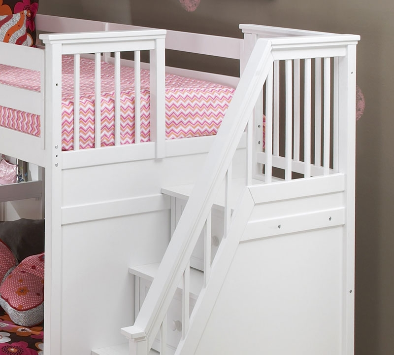 Collection white bunk beds with stairs ekidsrooms.com ... ktyzrjq