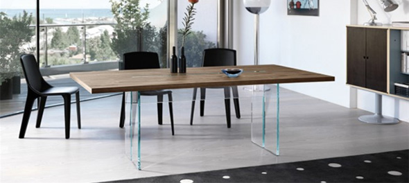 Compact contemporary dining table fiam llt wood oxifhvw