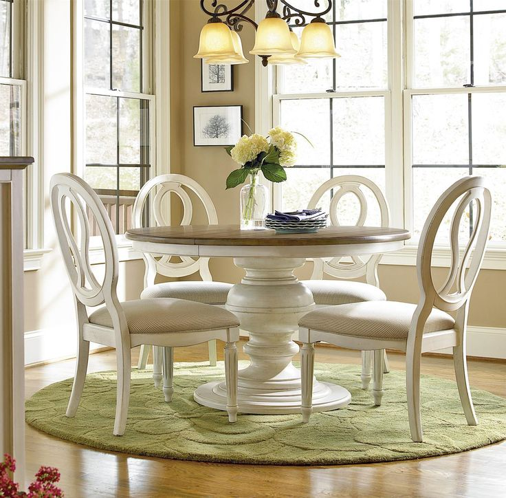 Compact round dining table and chairs country-chic maple wood white round extendable dining table khfybsf