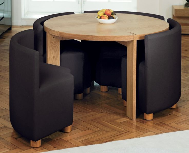Compact small dining table and chairs amazing small dining room sets brown color round shape design. #dinning  #dinningtable vuteepg
