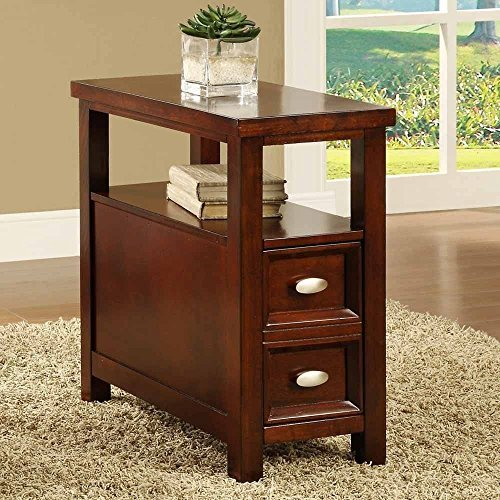 Concept end tables for living room new crownmark dempsey chairside end table cherry finish wood furniture wrabiup