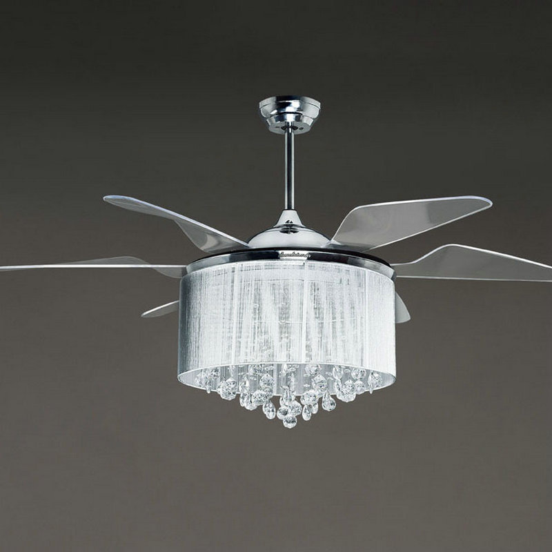 Concept modern ceiling fans with lights image of: silver modern ceiling fan with lights nplxrqu