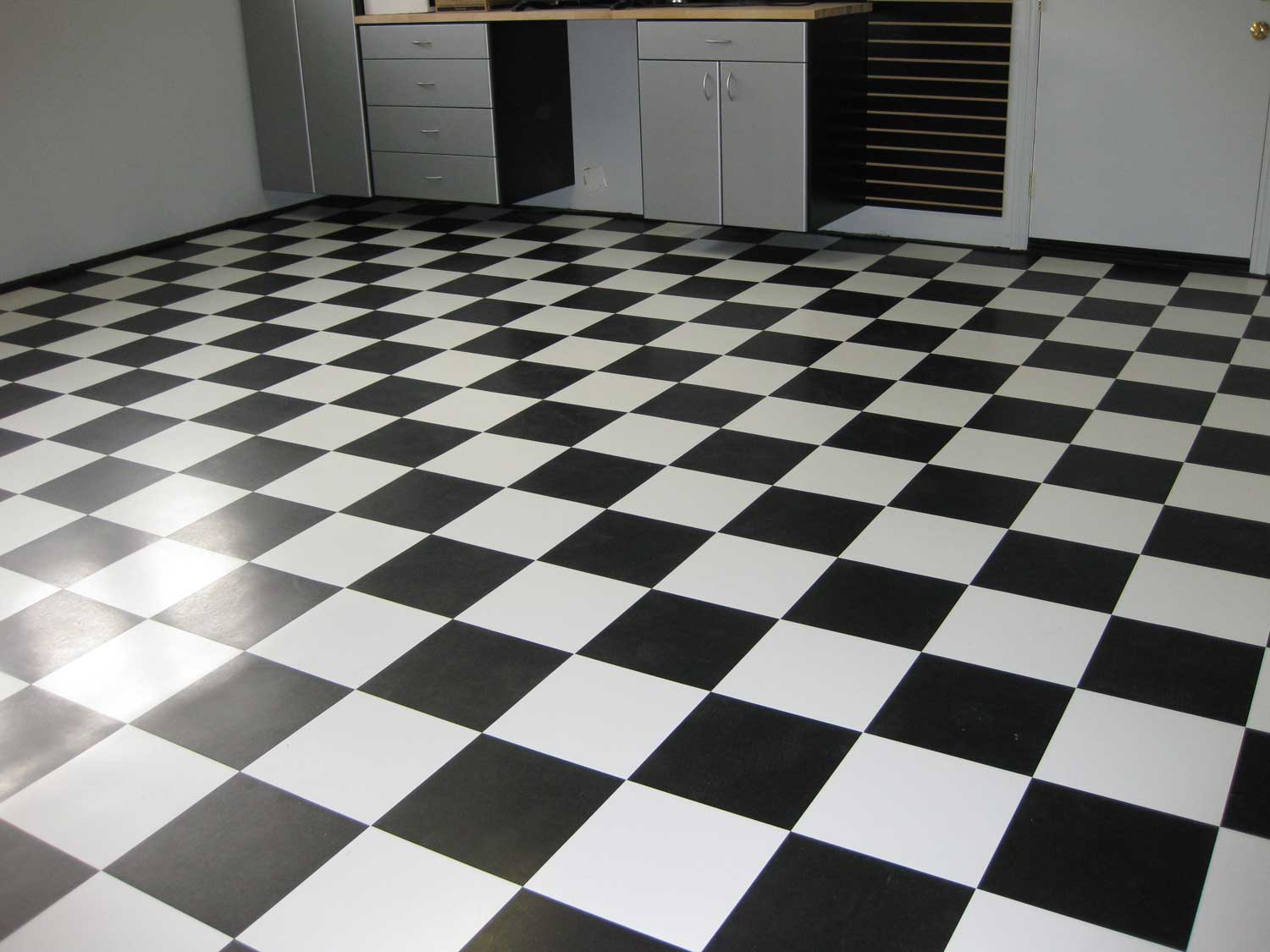Where to use black and white ceramic tile